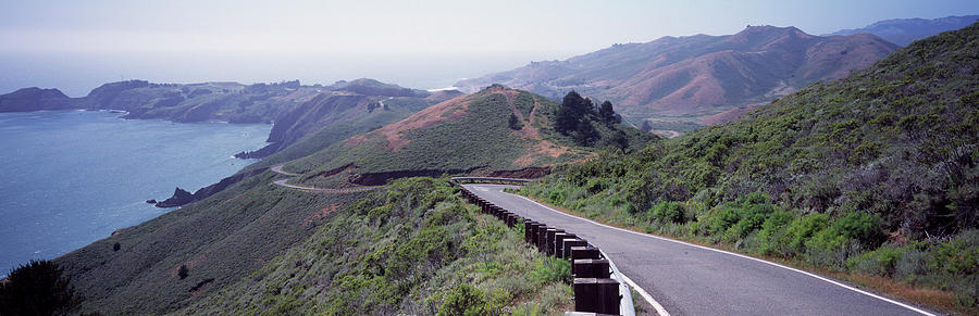 Horizontal Photograph - Usa , California, Marin County, Road by Panoramic Images