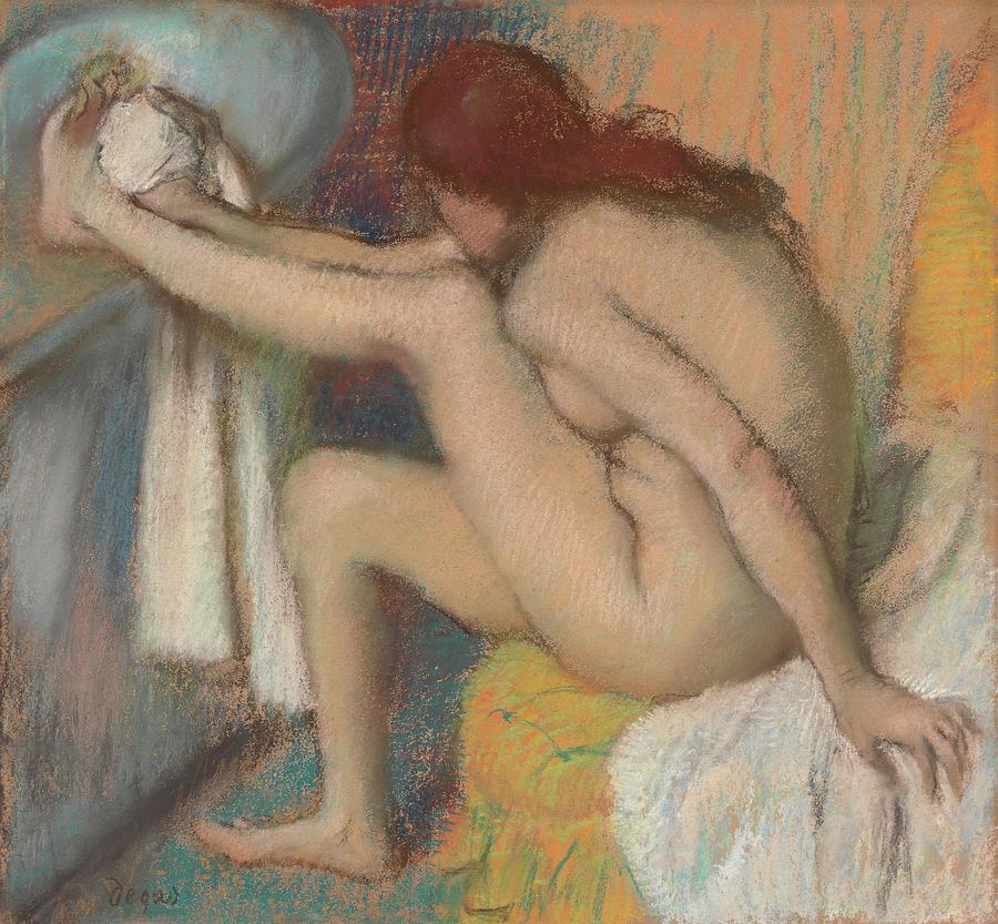 Edgar Degas Painting - Woman Drying Her Foot  by Edgar Degas
