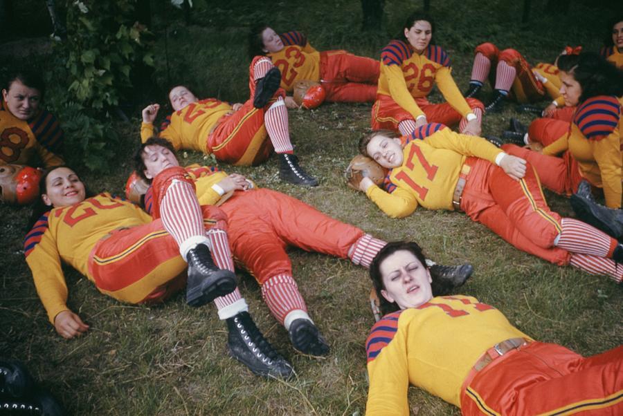 Womens Football Photograph by Michael Ochs Archives