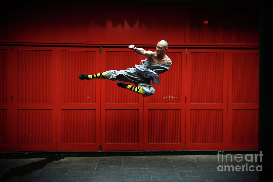 World Famous Shaolin Monks Come Photograph by Carl Court
