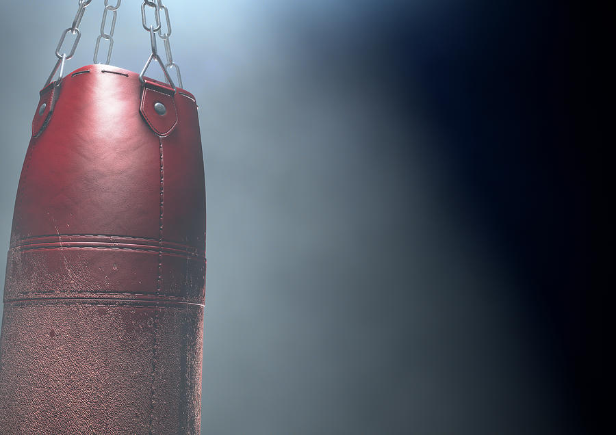 Bag Digital Art - Worn Leather Punching Bag by Allan Swart