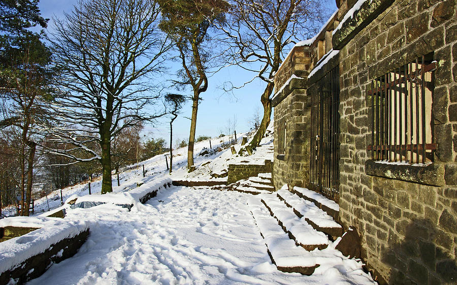 30/01/19  RIVINGTON. Summerhouse In The Snow. by Lachlan Main