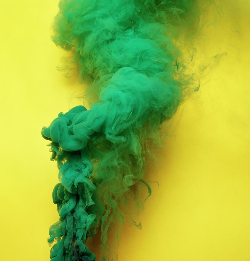 Colored Smoke Photograph by Henrik Sorensen