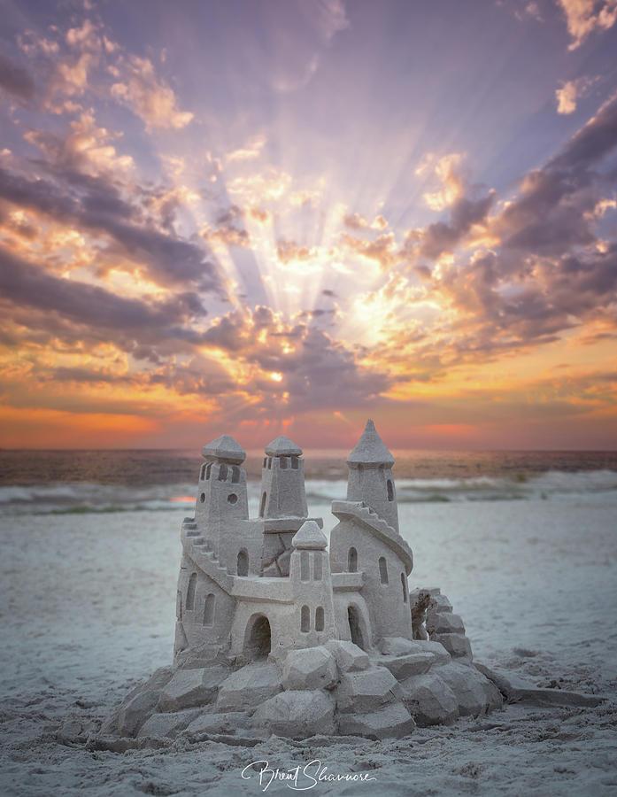 Sand Castle Digital Art - 30A Sandcastle  by Brent Shavnore