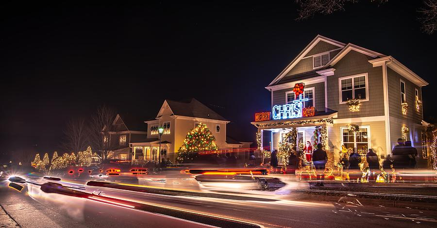 Outdoor christmas decorations at christmas town usa by ALEX GRICHENKO