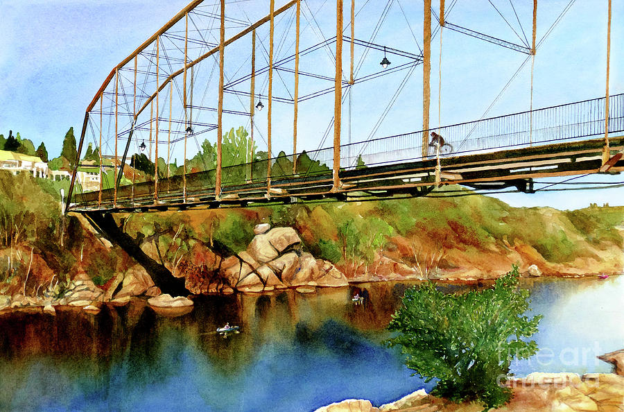 #345 Folsom Truss Bridge by William Lum