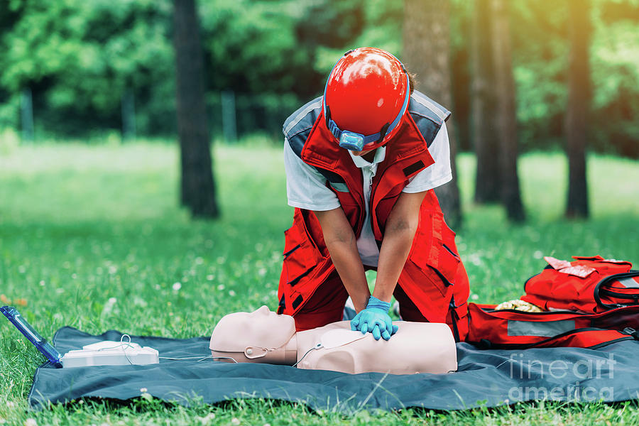 Aid Photograph - Cpr Training by Microgen Images/science Photo Library