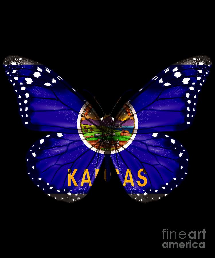 Kansas Digital Art - Butterfly by Jose O