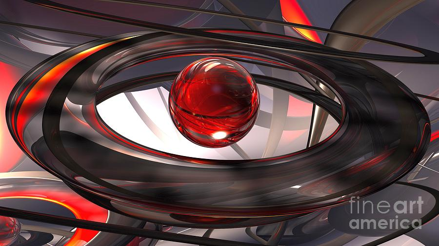 3D Abstract Red Sphere Ball Sculpture Ultra HD by Hi Res