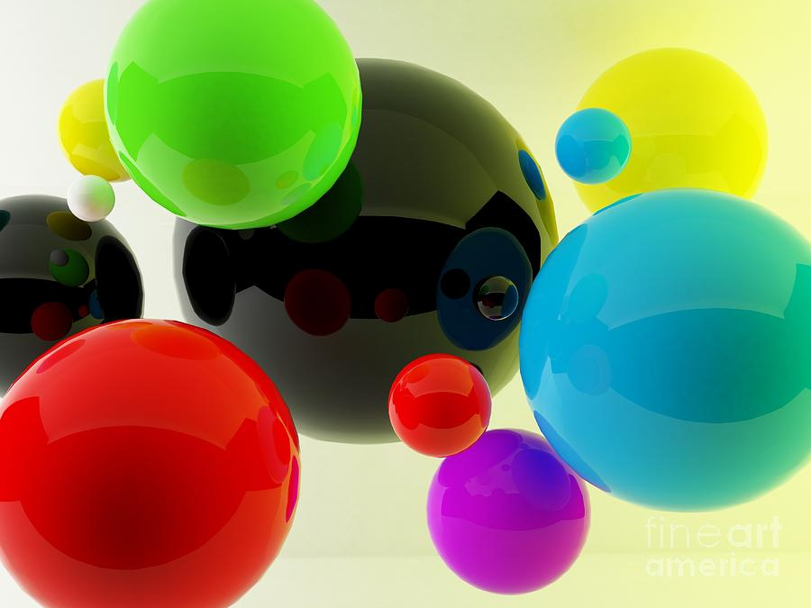 Symbol Photograph - 3d Balls by Oldm