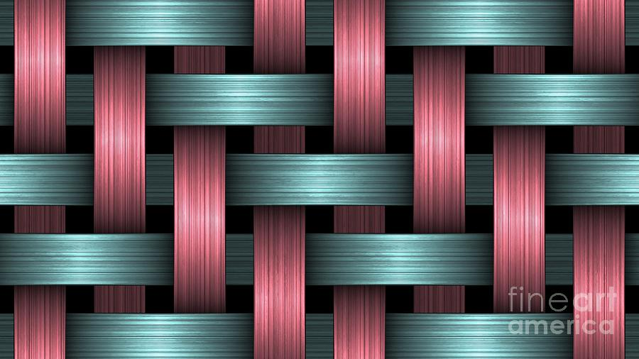 3D Blue Pink Knitted Pattern Ultra HD by Hi Res