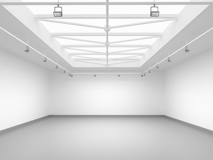 3d Empty Gallery Photograph by Me4o