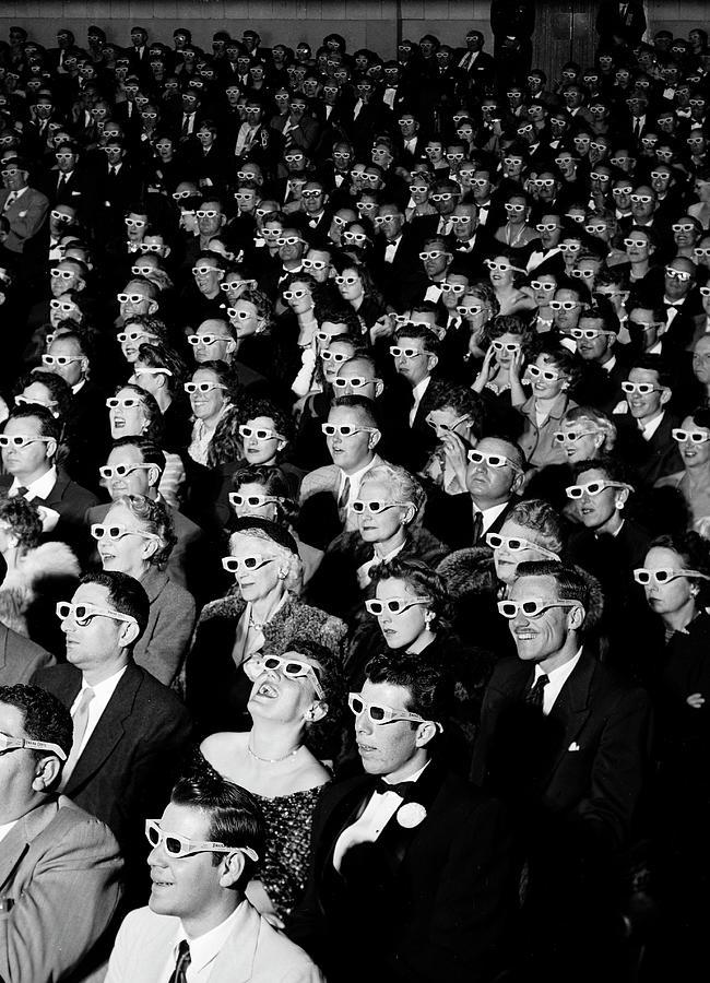 3d Film Audience Photograph by J. R. Eyerman