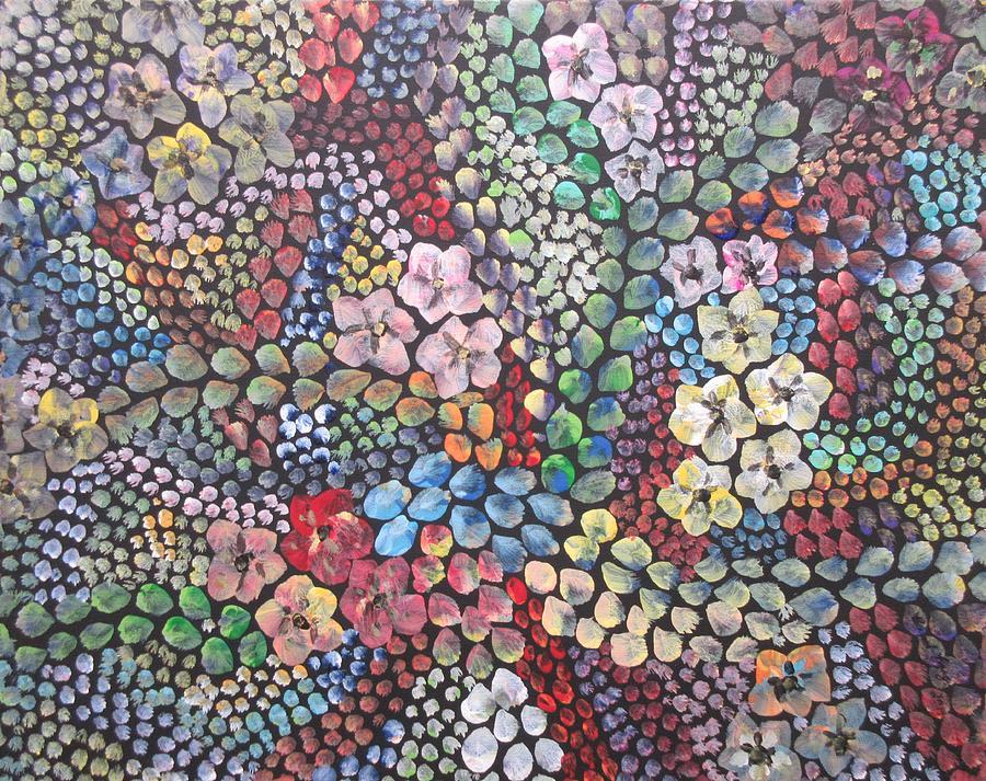 3d flower mosaic by Bradley Boug