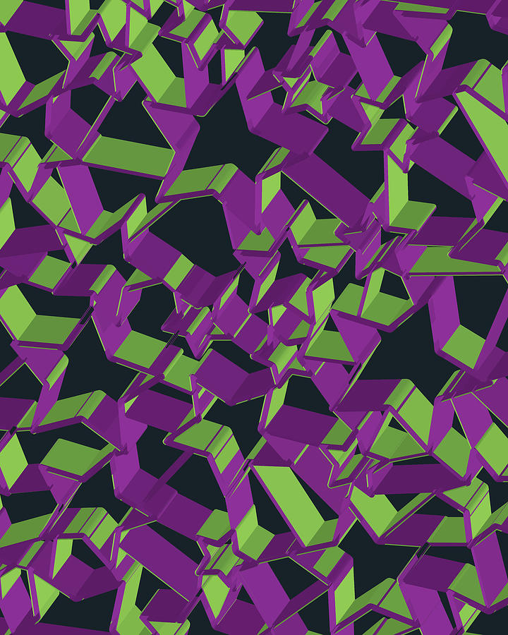 3d Futuristic Mosaic Background #10 Digital Art