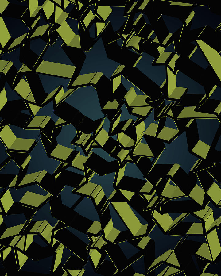 3d Futuristic Mosaic Background #7 Digital Art