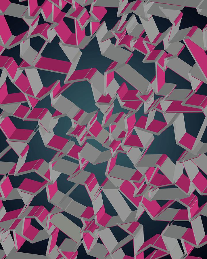 3d Futuristic Mosaic Background #8 Digital Art