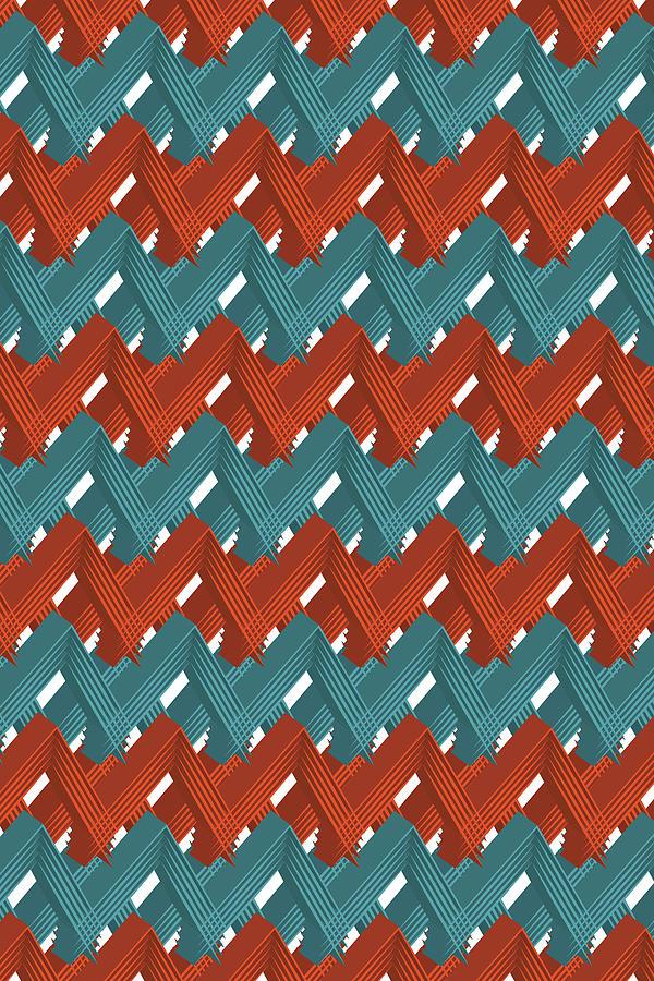 3d Pattern X Digital Art