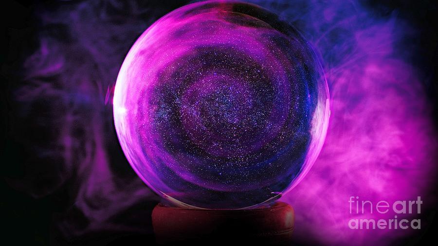 3D Purple Magic Crystal Ball Ultra HD by Hi Res