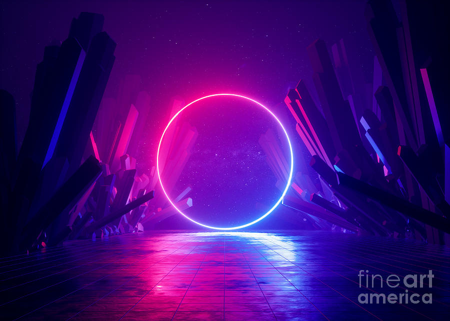 3d Render, Abstract Background, Cosmic Photograph by Wacomka