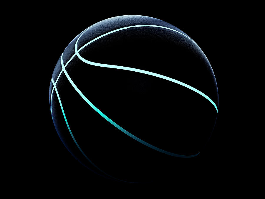 3d Rendering Of Futuristic Sport Concept Basketball Photograph By