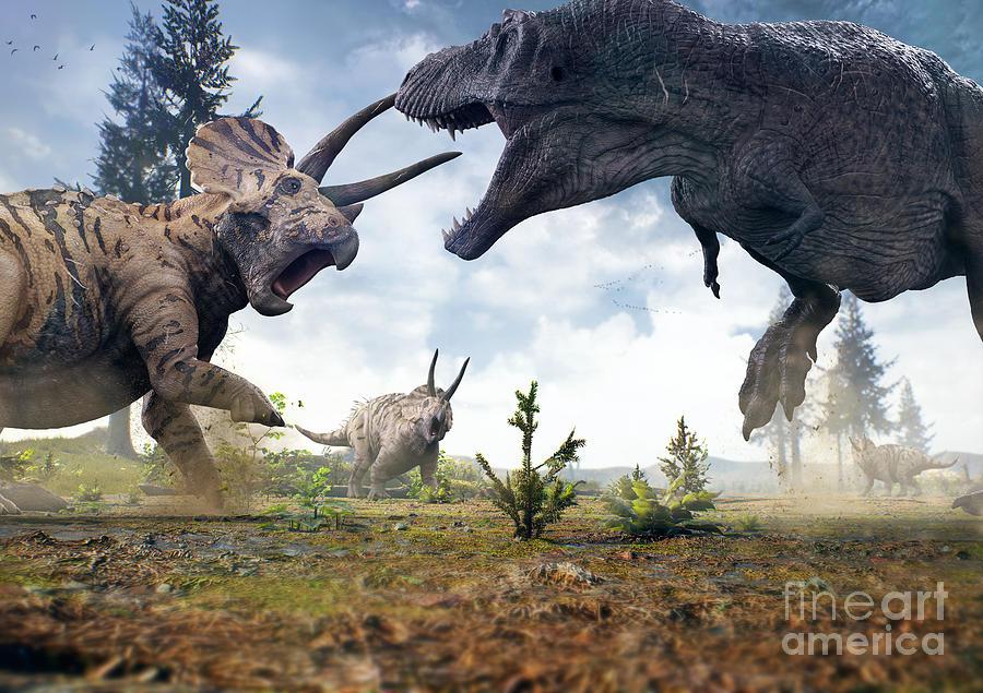 Hell Digital Art - 3d Rendering Of Tyrannosaurus Rex by Herschel Hoffmeyer