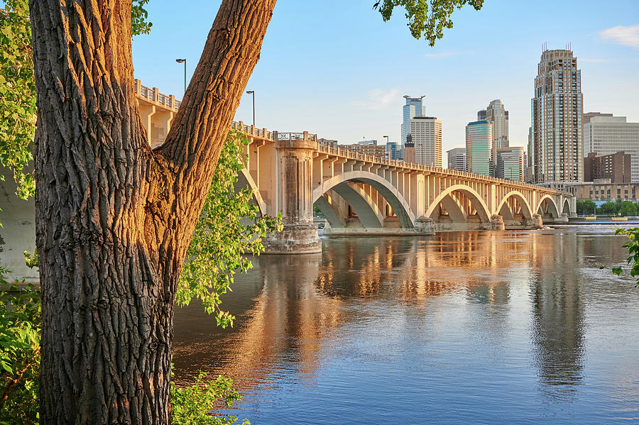 3rd Avenue Bridge in Minneapolis by Jim Hughes