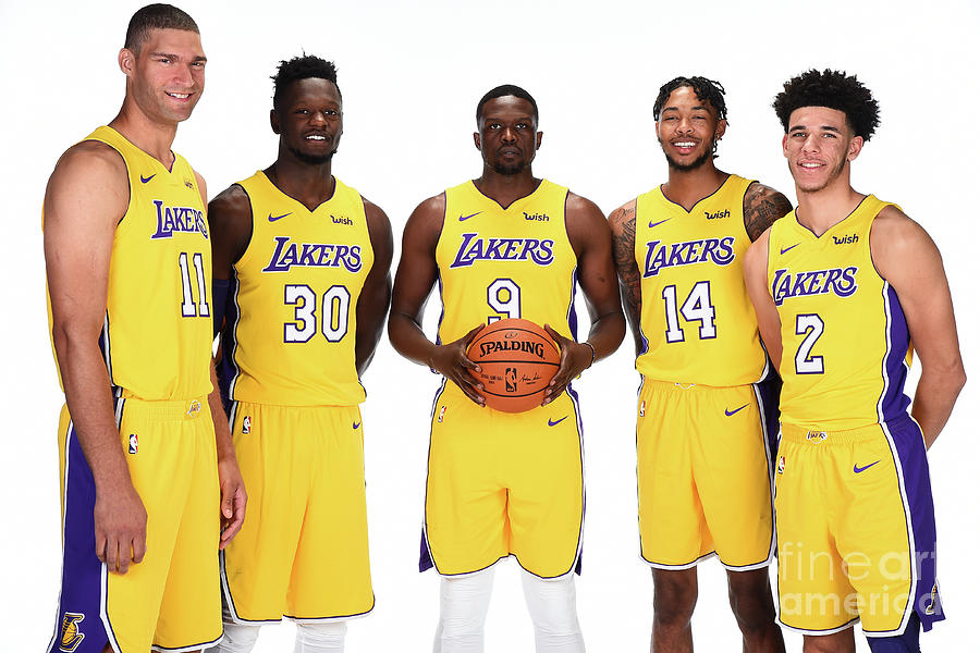 2017-18 Los Angeles Lakers Media Day Photograph by Andrew D. Bernstein