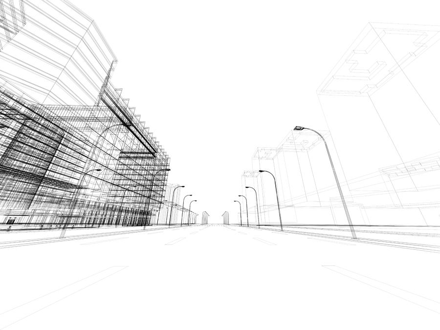 3d Architecture Abstract Photograph by Nadla