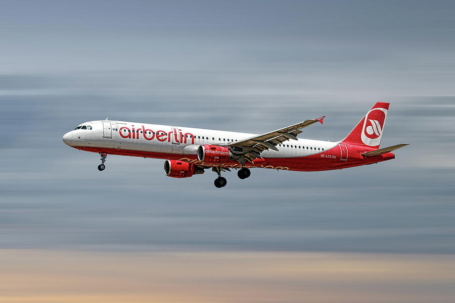 Air Berlin Mixed Media - Air Berlin Airbus A321-211 by Smart Aviation