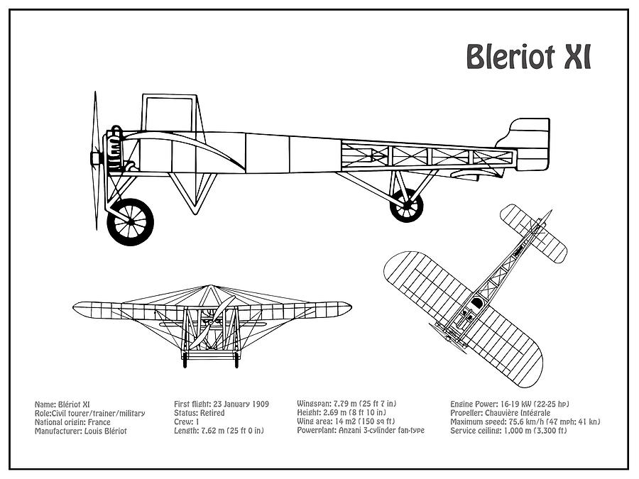 [DIAGRAM_3ER]  Bleriot XI Airplane Blueprint. Drawing Plans or Schematics with design  outline for the Bleriot XI Drawing by StockPhotosArt Com | Airplane Schematics |  | Fine Art America