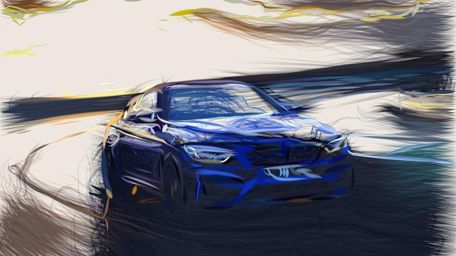 Bmw M4 Cs Drawing By Carstoon Concept