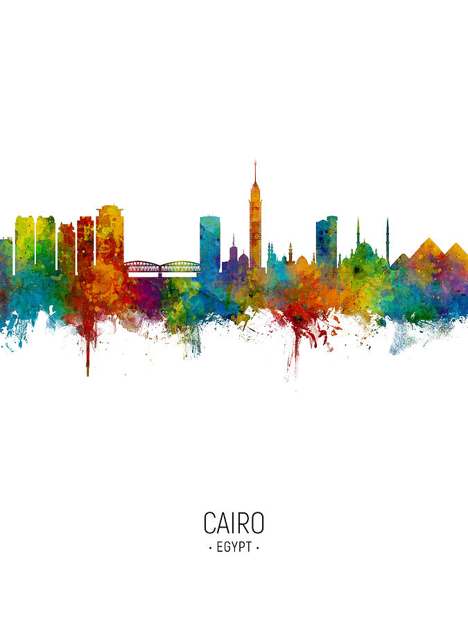 Cairo Egypt Skyline by Michael Tompsett