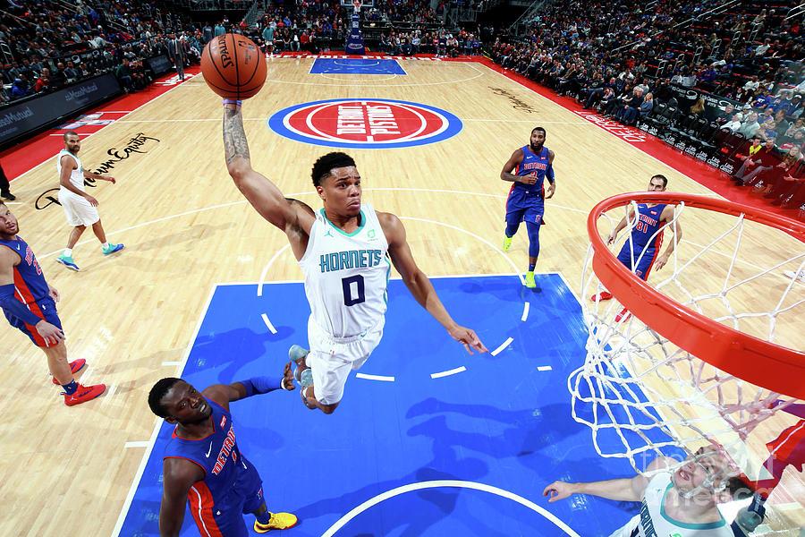 Charlotte Hornets V Detroit Pistons Photograph by Brian Sevald
