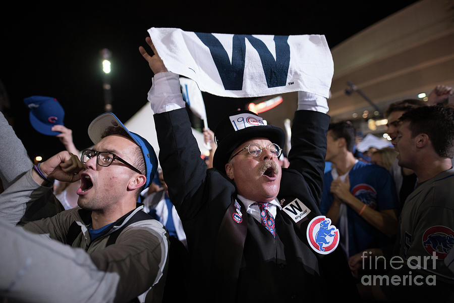 Cleveland Indians Fans Gather To The Photograph by Justin Merriman
