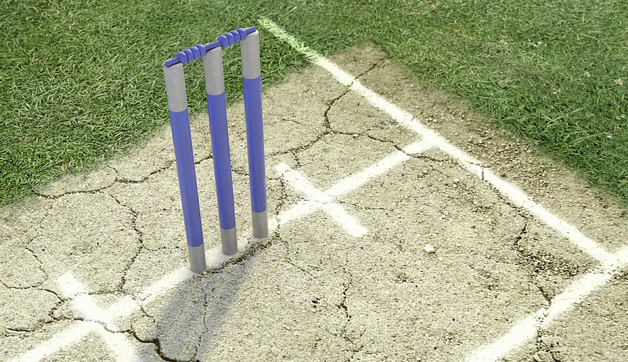 Cricket Digital Art - Cricket Pitch Ball And Wickets by Allan Swart