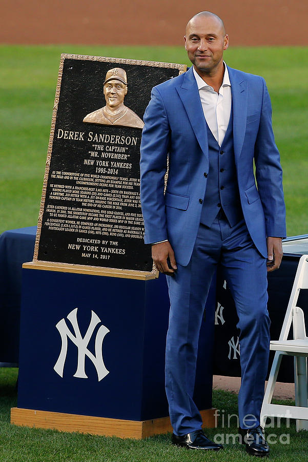 Derek Jeter Ceremony Photograph by Rich Schultz