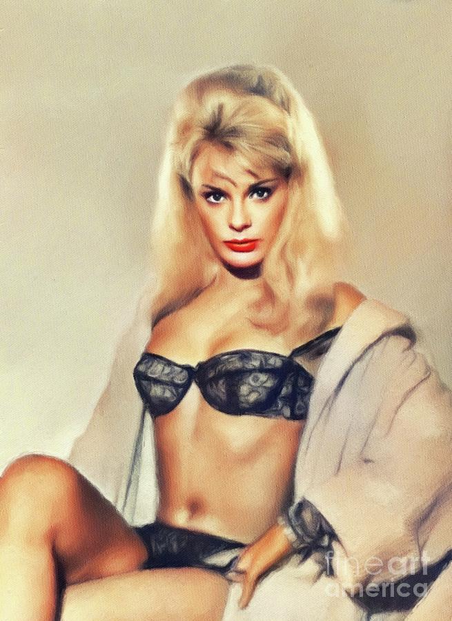 Elke Sommer, Vintage Actress by John Springfield