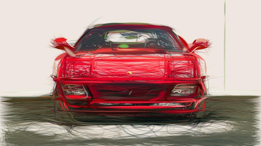 Ferrari 348 Spider Draw by CarsToon Concept