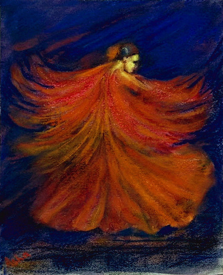 Flamenco dancer by Asha Sudhaker Shenoy