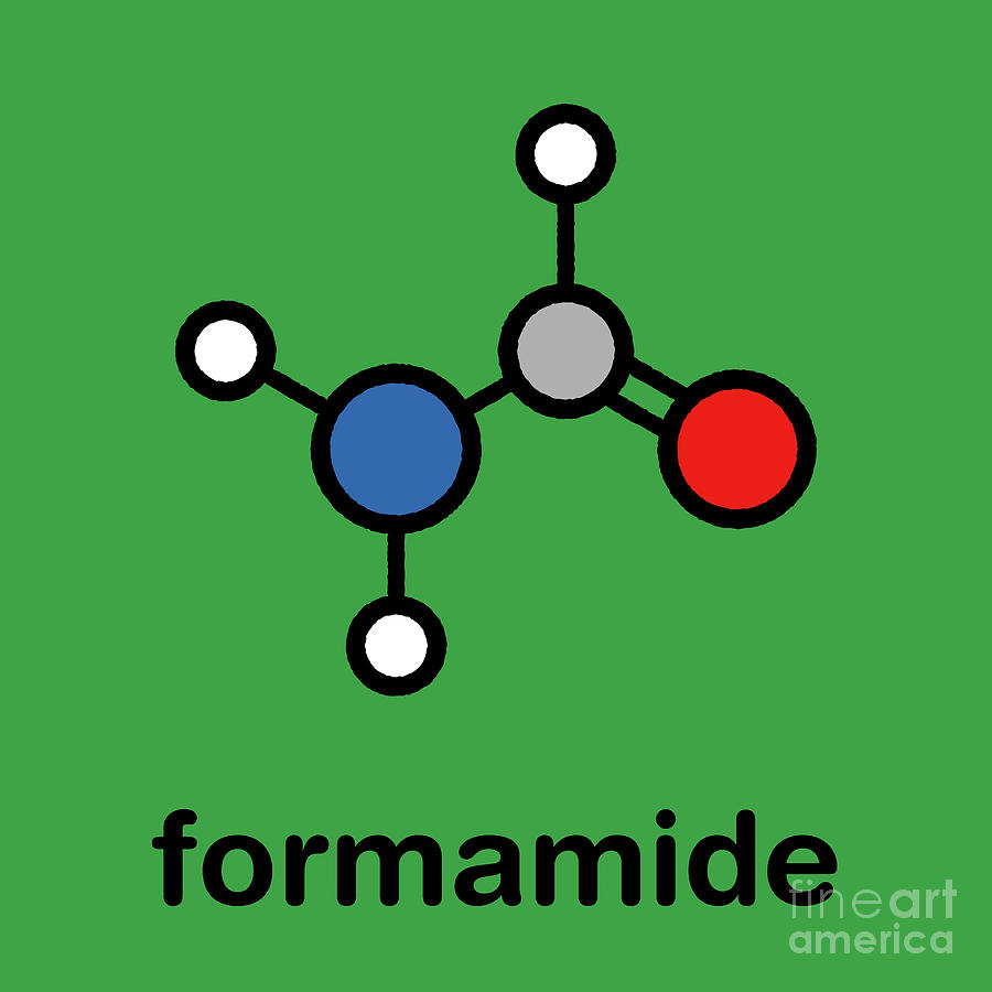 Amide Photograph - Formamide Solvent Molecule by Molekuul/science Photo Library