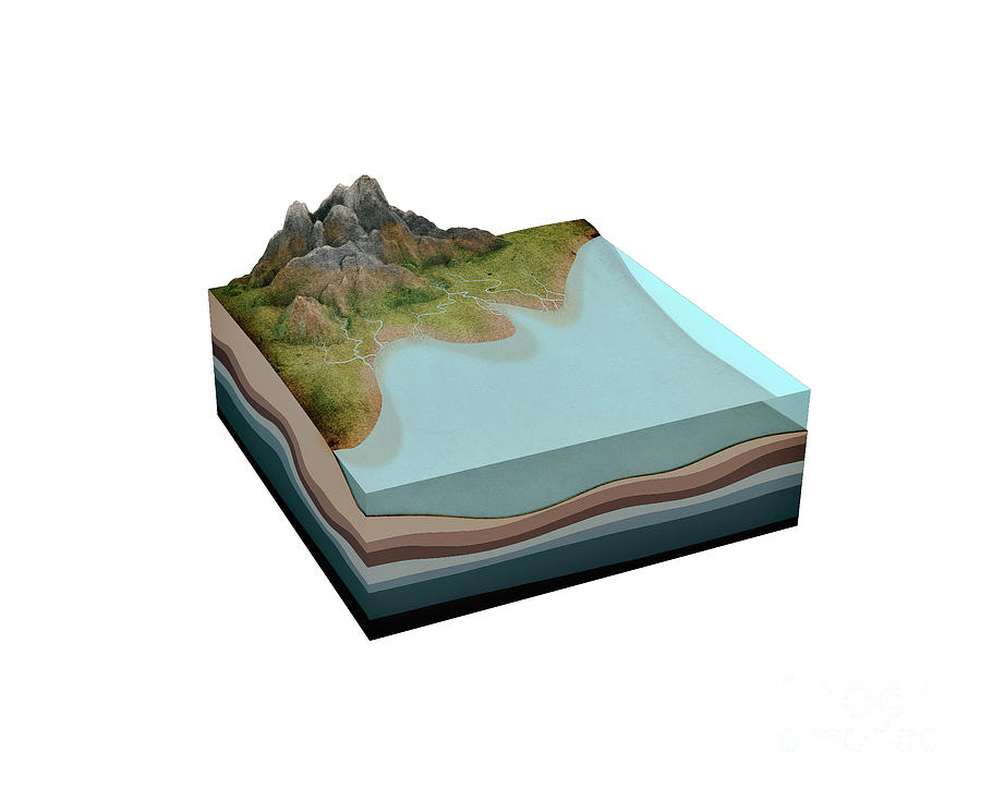 Sedimentary Rock Photograph - Formation Of Sedimentary Rock by Mikkel Juul Jensen/science Photo Library