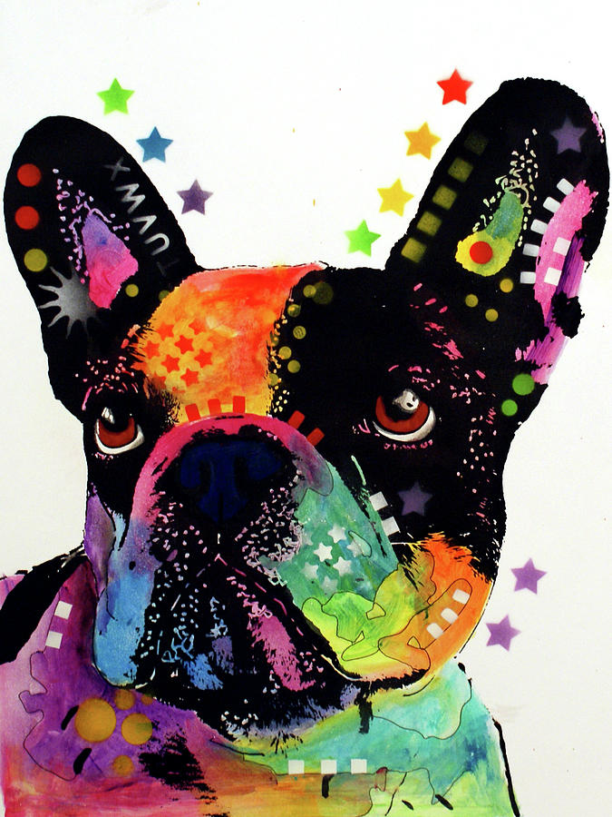 French Bulldog Mixed Media - French Bulldog by Dean Russo