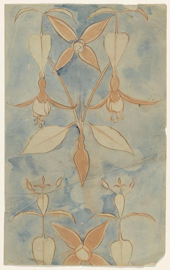 Fuchsias, Carel Adolph Lion Cachet, 1874 - 1945 Painting
