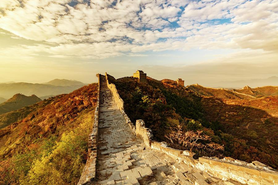 Adam Jones Photograph - Great Wall Of China And Jinshanling by Adam Jones