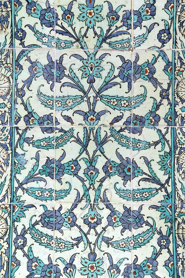 Iznik lapis  tiles with flower pattern  by Steve Estvanik