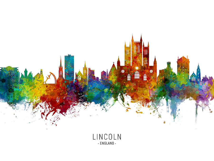 Lincoln Digital Art - Lincoln England Skyline by Michael Tompsett