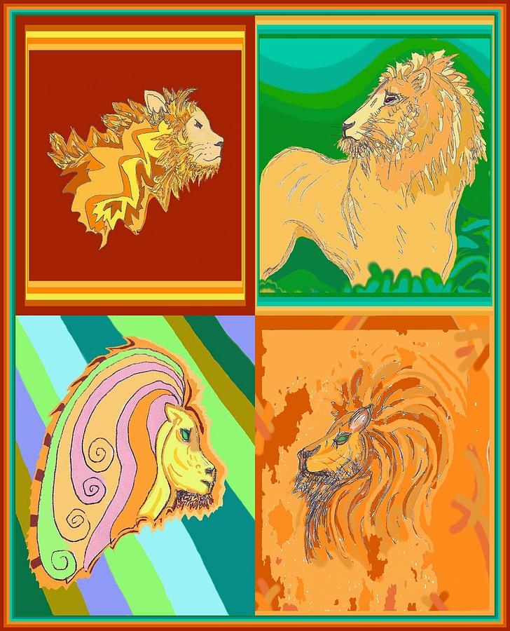 4 lions by Julia Woodman