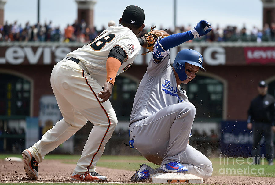 Los Angeles Dodgers V San Francisco 4 Photograph by Thearon W. Henderson