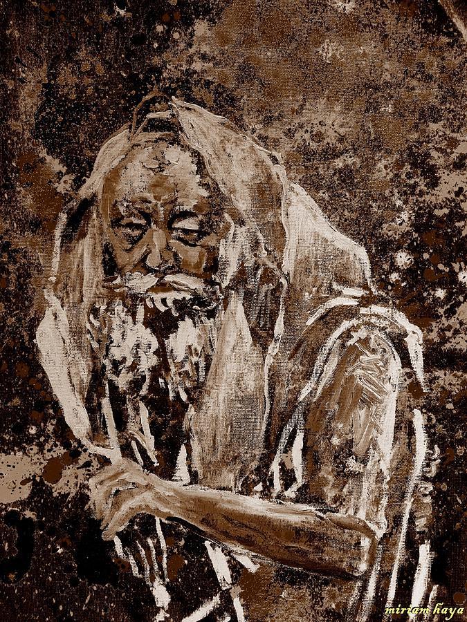 Lubavitcher Rebbe Painting - Lubavitcher Rebbe by Miriam haya Elbaz